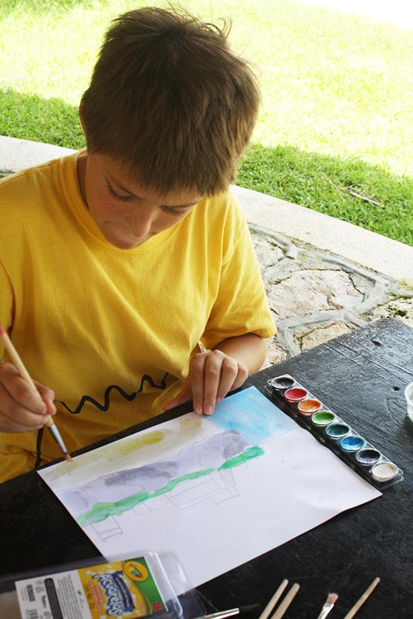 Ian-pintando