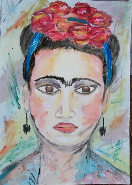Frida en acuarelas